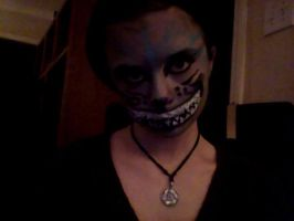 Cheshire cat make up  by Celticwolves