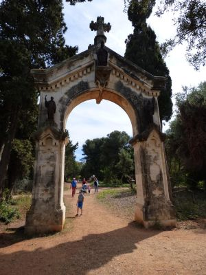 Gate with statues of LERINS Abbey by A1Z2E3R