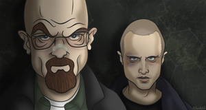 Breaking Bad - Walter and Jesse by becsketch