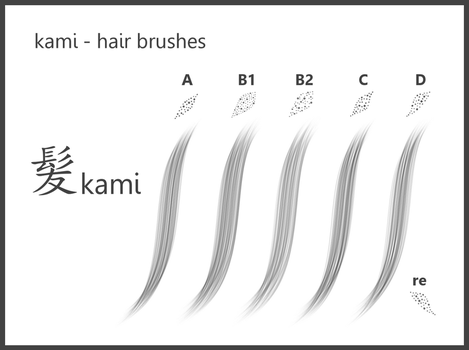kami_#Hair Brushes_for GIMP by dev-moon
