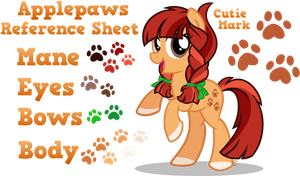 Applepaws Reference Sheet by equinepalette