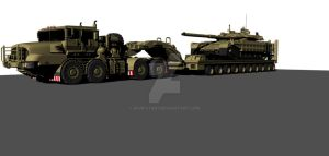 Tank with tank transport by Shafstar1
