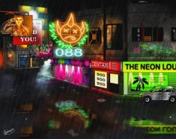 Neon Streets by biscuit-the-great