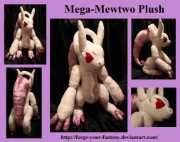 Mega-Mewtwo Plush - Auction - Pokemon X and Y by Forge-Your-Fantasy