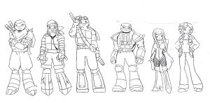 tmnt group older by WolffangComics