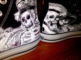 Day of the Dead Converse 2 by Kangas