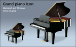 Grand piano icon by susumu-Express
