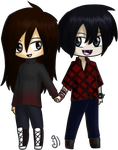 RQ Chibi Couple by glorypaintGR