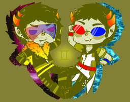 ALTERNATE UNIIVER2E TWOFOLD by I-am-Homestuck