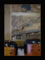 Kokeshi with Japanese painting by x-pyre12