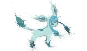 Paint Drip Glaceon by ImpersonatingPanda