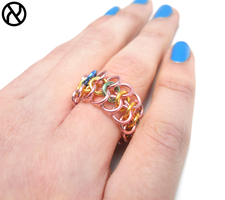Flutteryshy chainmaille finger ring by Zeroignite