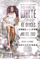new year white party flyer by DeityDesignz