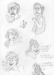 gravity falls sketchdump by theolivethief14