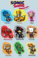 Sonic the Hedgehog Characters by KaiThePhaux