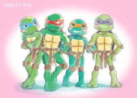 Cute baby turtles by E-1213