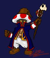 Toad as a Black Mage by Pancho-the-lizard