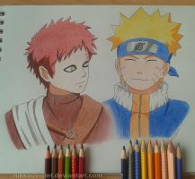 Gaara and Naruto by NikkouViolet