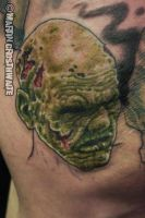 Zombie Knee Tattoo by mxw8