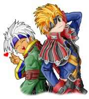 gippal and baralai chibi by kristyd