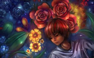 Lying in the flowers by Hangmoon