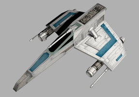 Star Wars E-Wing (front-top-3/4) by Augos