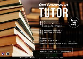 Open Recruitment for Tutor by Michalv