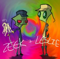 Zeek and Leslie by Yeakuaf