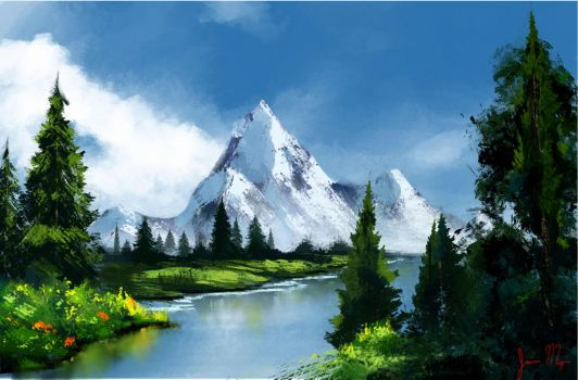 Bob Ross :Green Forest by theWinkWonk