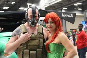 Bane and Poison Ivy at Austin Comic Con 2014 by aGrimmDesign