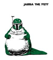 Jabba the Fett OR Boba Fatt by mattcantdraw