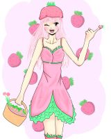 Art Trade: Strawberry Gijinka by Chibi-Usagix3