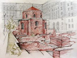 Rotunda St. George, Sofia, Bulgaria by mirroslaff