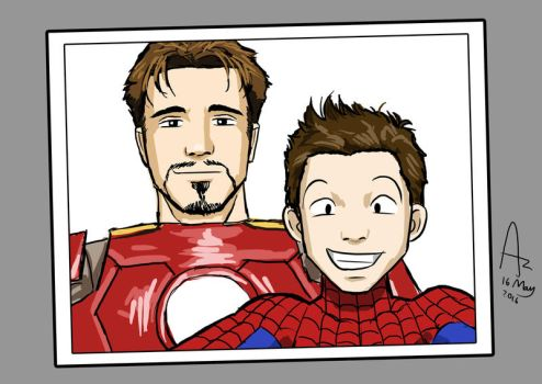 Spiderman Selfie by Fandias