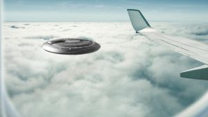 Airplane Window UFO by Thyrring