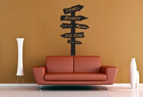 Tolkien Road Sign Wall Decal No 3 by GeekeryMade
