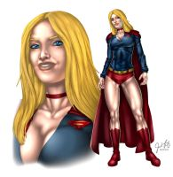 Supergirl in Hotpants by PWA by kclcmdr