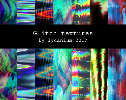 Free Large Glitchy Textures by Lycanium