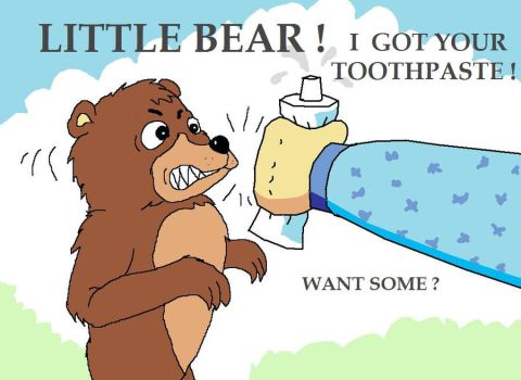 Little Bear toothpaste by AVRICCI
