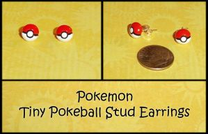 Pokemon Pokeball Stud Earrings by YellerCrakka