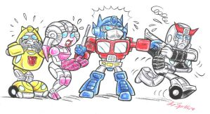 Little Autobot Angels by blackhellcat
