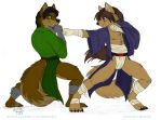 Eddie And Raul Sparring by SonicHomeboy