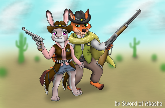 Judy and Nick Frontier Justice by Sword-of-Akasha
