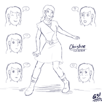 Christine - Sketch'd by G3Drakoheart-Arts