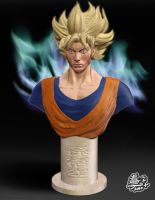 Son Goku 3D Sculpt by Veus-T