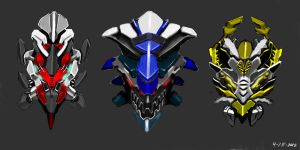 DragonMech heads color by dimodee