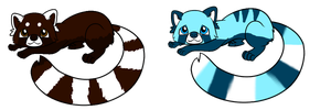 red panda adopts 3 by AionysPointAdoptable