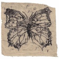 Butterfly monoprint. by OwlDarling