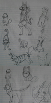 school pokemon sketchdump by meteorcrash