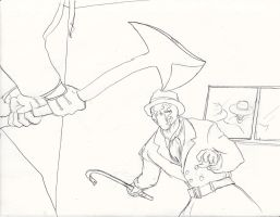 Unlikely band: Joker vs. Rorschach (Uncolored) by Omnipotrent